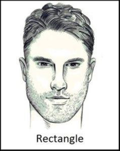 barba viso rettangolare